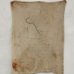 """""""Premium Bananas / Guarani Map"""", 2012, sewing and mixed media on tissue. Edition: N/A, 110 x 78 cm"""