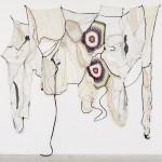 ''Tantas Estórias'', stitching, moorings and different fabrics, 350 x 300 cm