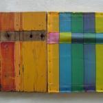 """""""Similares'[""""Similars""""], 2004, bodyshell wood and nylon, 40x66cm"""