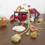 untitled - 250cm x 350cm x 400cm beads,ropes,ceramic, fiberglass , resine and wood 2011