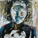 Ciclope (1983) 25 x 20 cm; guache, nankin e colagem sobre papel