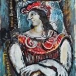 Madona Boy George (1985) 35 x 25 cm, guache e nankim sobre papel