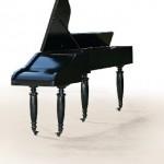 Piano (2008) 180 x 60 x 250 cm, madeira, acrílico e aço