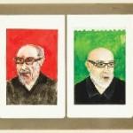 Prospecções Ontológicas (2009) 35 x 105 cm; guache, nankim, grafite, colagem