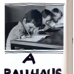 """A Bauhaus"", from the series ""The Great Art History"", 2005-2013, ink on book, 608 pages, 26x18 cm"