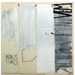 """""""Adeus cubo, agora é nuvem"""", 2008, mixed technique on canvas, 212x212 cm"""