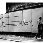 """Nuvem"", from the series ""Nuvens na Perimetral"", 2005, painting on metal, intervention at Rio de Janeiro's Candelária Street"