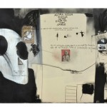 """Untitled, from the series """", """"Não há instruções exatas para a localização do paraíso"""", 2010, mixed technique on canvas, 212x500cm, Collection of Museum of Contemporary Art of Niteroi, Rio de Janeiro"""