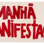 """Amanhã Manifestação"", 2014, acrylic and varnish on canvas, 201 x 435 cm"