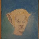 ''Mensagens Sonoras – Retrato Falado'', 2015, oil on canvas, 23 x 30cm