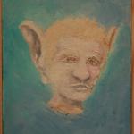 ''Mensagens Sonoras – Retrato Falado'', 2015. oil on canvas, 23 x 30cm