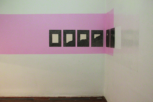 """""""Escrito"""", 2013, drawing on paper and tape, variable dimensions"""