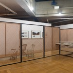 """""""Remediations"""", Installation – video, TV monitor, dvd player, various furniture, construction materials, vitrine, photographs and graphical interventions on printed matter. Various materials, dimensions variable, 2010 – 2014."""