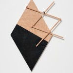 """Projection II"" (Plans in Progression), 125 x 90 x 3 cm, 2015, pantograph, sumauma plywood, oil paint, 85,5 x 141 x 3 cm"
