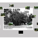 """Ilhas mato-verde (arquipelago)"", 2014, 12 photographs, diasec 16x12 cm each one + 1 photograph giclée print on cotton paper 93x68 cm"