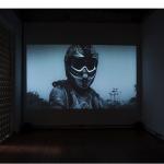 """The New Monument"", 2013, 16mm film transferred to video, 5'35"", installation view, Phosphorus, São Paulo, photo: Joana Luz"
