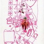 """The Caboclo of the Aflitos"", series ""Aflitos's Home"", 2013, draw, 210x148,5mm"
