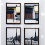 """""""Stop"""", 2011, intervention photographic documentation and jequitibá-rosa wooden frame [polyptych], 55x37.5cm [each photograph]"""