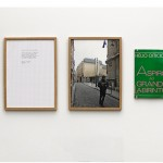 """""""Towards the great labyrinth """", 2013, reading photographic documentation, text and book [triptych] 29.7 cm x 21 cm [text and photograph] and 21 cm x 14 cm [book]"""