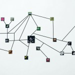 """Map Vestiges"", 2013, Project ""Vestiges"", black tape photos, variable dimensions"