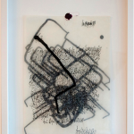 """""""Cartobiographies"""", 2014, indian ink and collage on cloth paper, 42x30cm"""