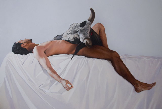 """""""In times of uncertainty, the reverie is the escape route"""", 2015, oil on canvas, 170x220 cm"""