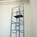 """""""Andaime"""", 2012, 75m2, 6x1,5m, latex sobre alvenaria, Ateliê Ana Ruas"""