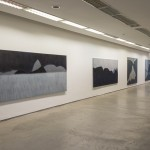 artial view of the exhibition at Galeria Marcelo Guarnieri, São Paulo, 2015, paintings, oil on canvas