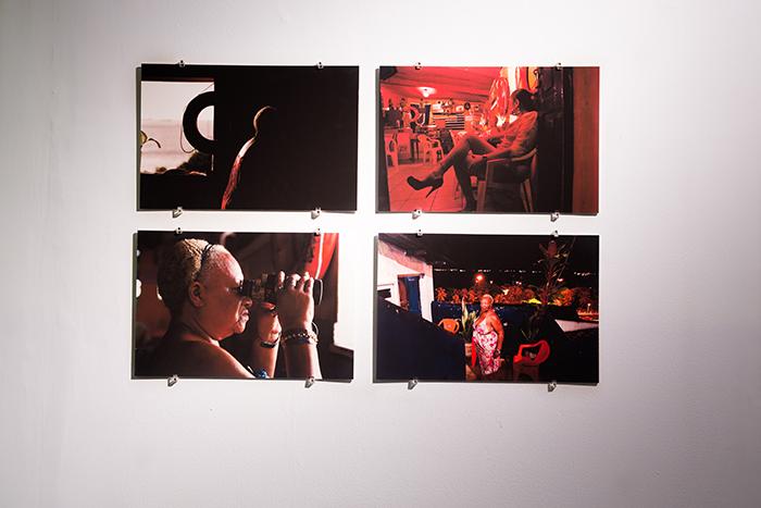 """""""Em torno dos meus marítimos """", 2014, four photographs, 50x70cm, and video 8'55"""""""