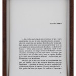 Bruno Moreschi, author of Pierre Menard, author of D. Quijote (2014)  india ink on paper, 11 papers framed, 25 x 18 cm each one.