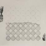 Palíndrome #1, 2013, Grafite pencil on paper and collage, 25 x 25 cm
