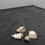 'TRILOBITES', 2015, coloured silicon on stone, variable dimensions