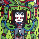 'Yube Nawa Ainbu', 2014, acrylic on canvas, 115 x 80 cm.