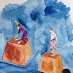 """Projetos de Base Mágica"", 2013, painting, watercolour on Montval paper, 24 x 32 cm, permanent collection of the Museum of Art of Rio de Janeiro, Brazil"