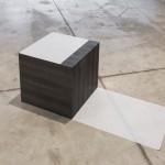 """Formas Inversas I"", 2014 . graphite and japanese paper, 38 x 38 x 46 cm"