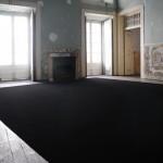 """Norte"" [North], 2014 . graphite on floor . 48 m2 . exhibition view at  Carpe Diem Arte e Pesquisa, Lisbon, Portugal"