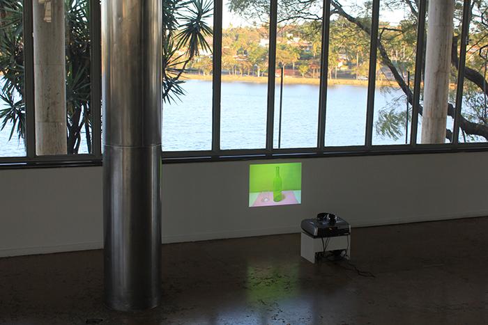 'Copo Americano', 2011, video projection, audio, 2'30'' (loop), exhibition view, Centro Cultural São Paulo, 2013. Photo: Eduardo Ortega | Courtesy Galeria Fortes Vilaça