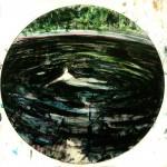 """Lago"", 2016, stained glass, diameter: 40cm"