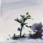 """""""Árvore"""", 2016, watercolour, 28 x 21,5 cm"""