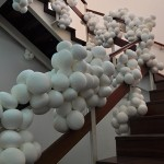 """Embola"", 2012, installation, latex balloon and polystyrene beads, variable dimensions according to space"