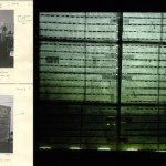 Homeroadmovie (para André), 2012, 35mm, 17 minutes (film), charcoal, wood and paper (projector), 200 x 150 x 700cm