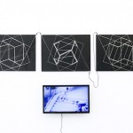 """""""I want to be the best way possible"""", 2013, 250 cm x 180 cm, insulating tape, iron, cables and screen"""