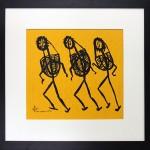 'Non-Human Journey', acrylic on canvas, 2012, 40 x 40 cm