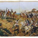 Independence or death (Provisional Version 1) oil on fabric, by Marco Andrade Jr., Bruno Moreschi, Reginaldo Frazão e José Almeida. 185 x 380 cm.