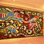 'Nai Mãpu Yubekã', 2014, acrylic on canvas, 5x3 meters