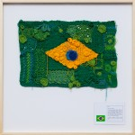 'National flag #3', 2016, cotton, polyester and inkjet printing on cotton paper, 90 x 90 x 4 cm, unique edition, photo Gui Gomes