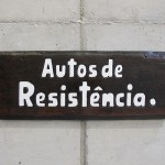 'Acts of resistance', 2015, notch on wood (cedrinho) of phrases of institutional racism found in official communications and police reports from the Brazilian Military Police, 24 x 61 x 2,5 cm, unique edition