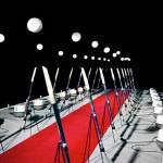 'Eletro Sphere Space', 1986-7, 6 x 28 x 4m, mixed technique, Foundation Biennial, MAM Paris. Photo Guto Lacaz