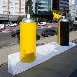 'ALEX ALEX – tribute to Alex Vallauri', 2015, 1 x 2 x 3m, mixed technique, CCSP, São Paulo, Brazil. Photo Edson Kumasaka