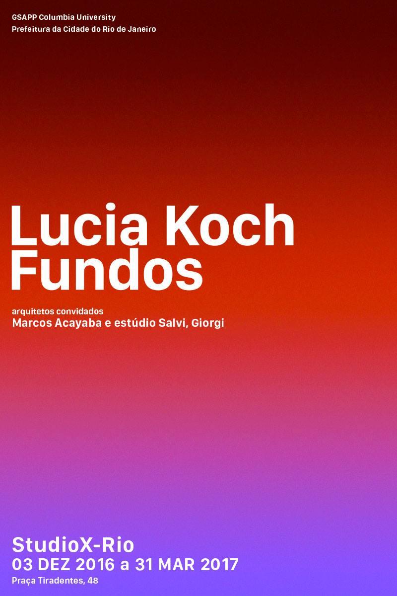 """E-flyer: """"Fundos"""", de Lucia Koch"""
